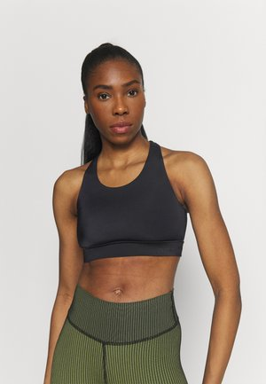 CROSSBACK  - Medium support sports bra - black