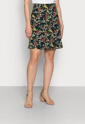 BORDER LAJOLA - A-line skirt - black