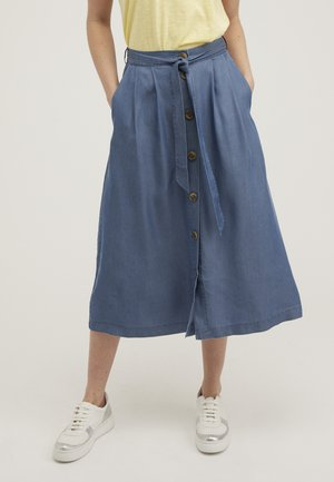 CHAMBRAY  - Pleated skirt - blue