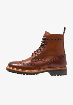 FRED - Lace-up ankle boots - tan