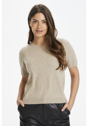 EVERLOTTEPW  - Basic T-shirt - light camel melange