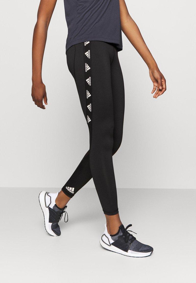 adidas Performance - Leggings - black/white