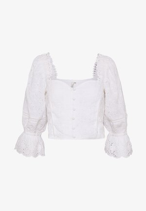 BUTTON EMBROIDERY - Blouse - white