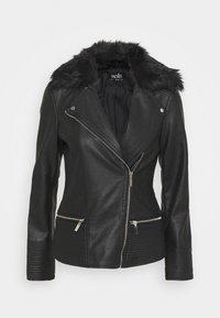Wallis - BIKER - Faux leather jacket - black - 5