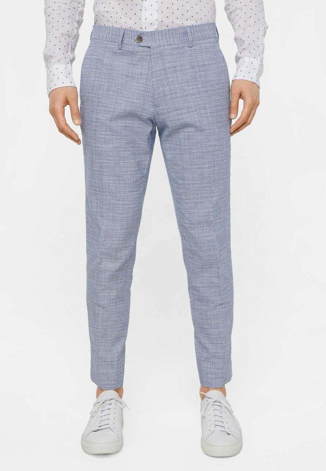 MIT HAHNENTRITTM - Spodnie garniturowe - blue