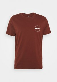 Levi's® - CREWNECK GRAPHIC 2 PACK - T-shirt med print - madder brown/caviar - 6