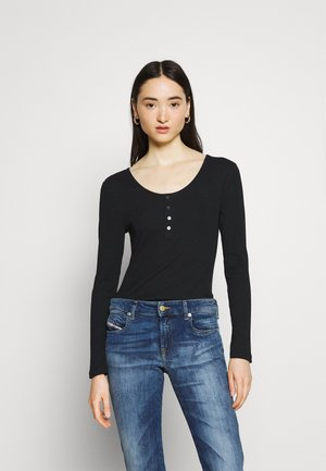 ONLSIMPLE LIFE BUTTON - Long sleeved top - black