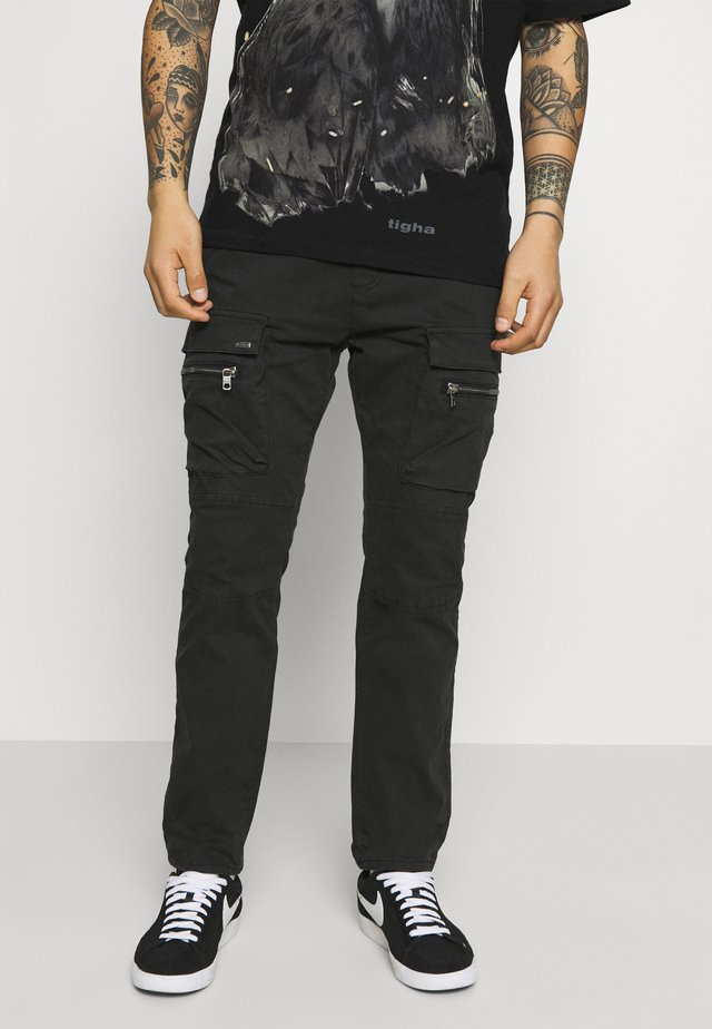 FRYCO - Pantalon cargo - vintage black