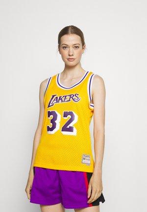 NBA MAGIC JOHNSON LOS ANGELES LAKERS WOMENS SWINGMAN  - NBA jersey - light gold