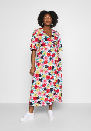 FLORAL WRAP DRESS - Vestido informal - multi