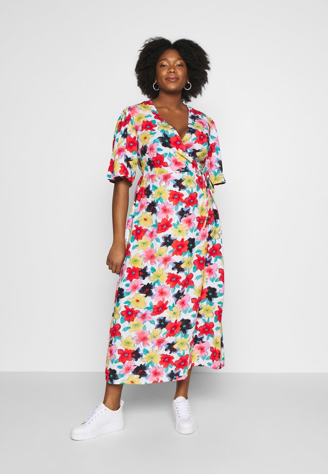 FLORAL WRAP DRESS - Day dress - multi
