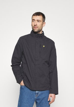 LIGHTWEIGHT FUNNEL NECK JACKET - Summer jacket - jet black