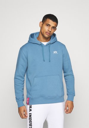 BASIC HOODY SMALL LOGO - Luvtröja - airforce blue
