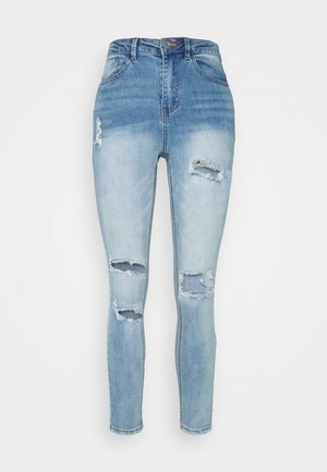 SINNER WAISTED AUTHENTIC RIPPED - Jeansy Skinny Fit - blue