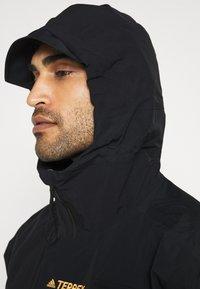 adidas Performance - TERREX XPLORIC RAIN - Outdoorjas - black/black - 4