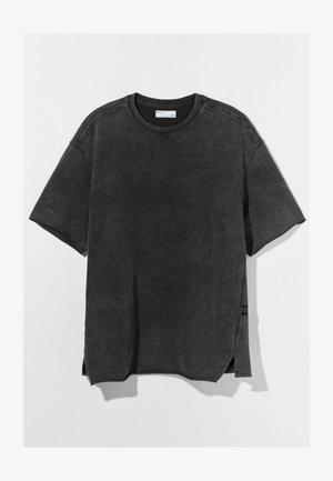 OVERSIZED SHORT SLEEVE SWEAT - Basic T-shirt - grey