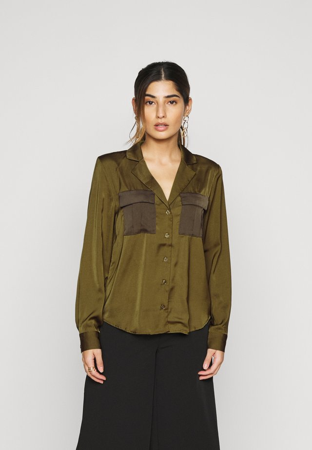 IHKANA - Button-down blouse - fir green