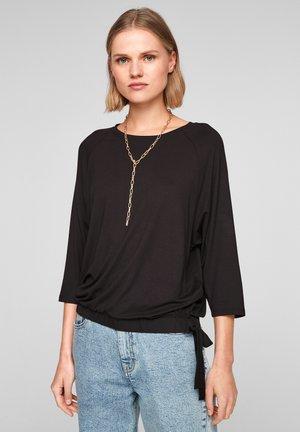 À NŒUDS DÉCORATIFS - Long sleeved top - black