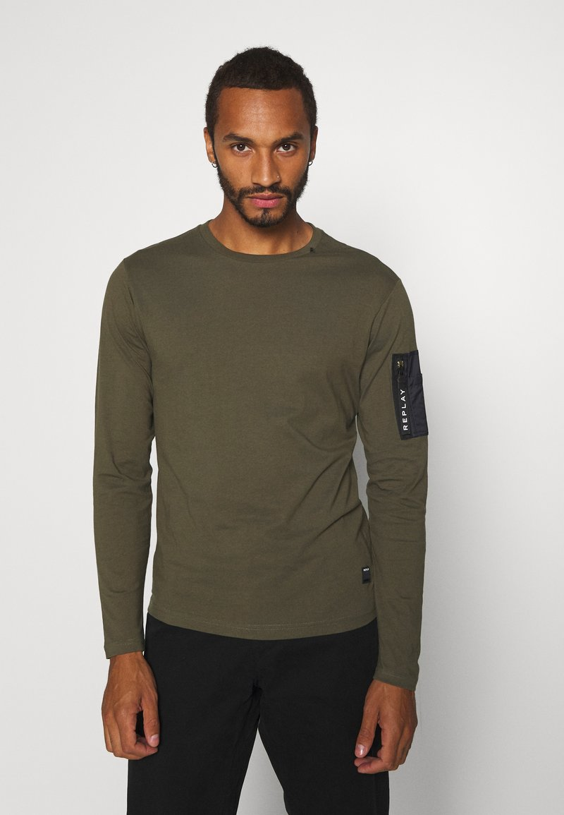 Replay - Maglietta a manica lunga - olive
