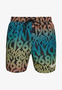 Calvin Klein Swimwear - MEDIUM DRAWSTRING PRINT - Swimming shorts - black - 2