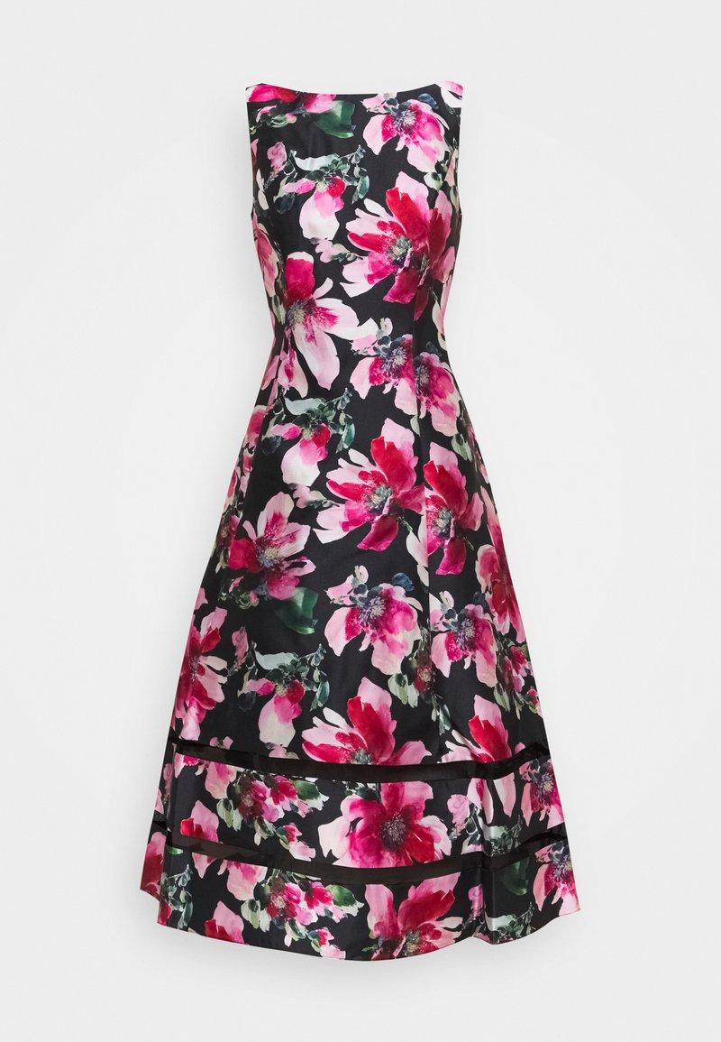 Adrianna Papell - PRINT MIKADO DRESS - Cocktail dress / Party dress - black/pink