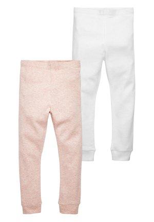PINK/WHITE 2 PACK THERMAL LEGGINGS (2-16YRS) - Legíny - pink