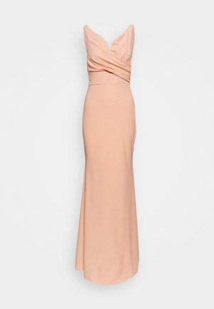 OFF THE SHOULDER DRESS - Galajurk - salmon