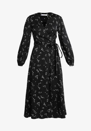 PRINTED WRAP  - Vestido largo - black
