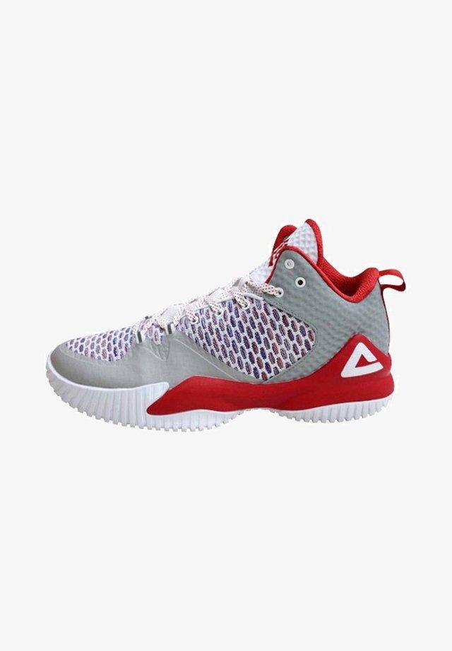 LOU WILLIAMS - Basketball shoes - hellgrau rot