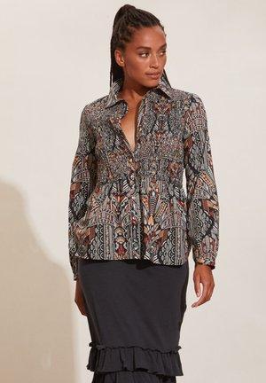 EVELYN - Button-down blouse - deep asphalt
