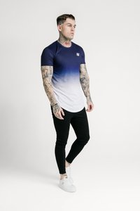 SIKSILK - SHADOW FADE - T-shirt con stampa - navy/white - 1