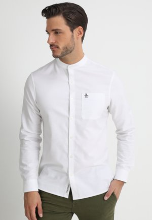 COLLARLESS OXFORD - Košile - bright white
