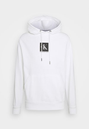 SMALL BOX LOGO HOODIE UNISEX - Sweatshirt - bright white