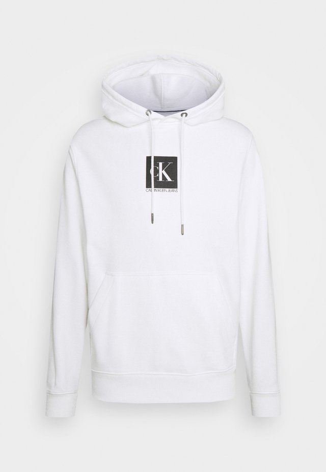 SMALL BOX LOGO HOODIE UNISEX - Collegepaita - bright white