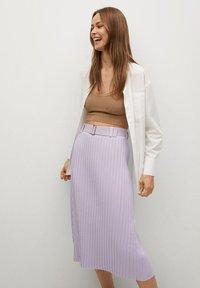 Mango - KATYA - A-line skirt - lys/pastell lilla - 4