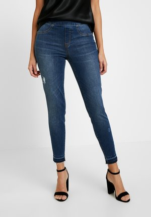 DISTRESSED - Skinny džíny - medium wash