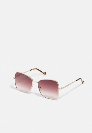Lunettes de soleil - gold-coloured shiny