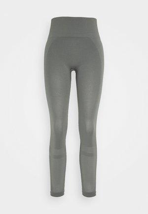 LEGGINGS - Leggings - green/grey