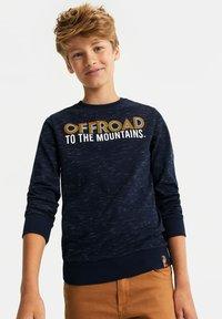 WE Fashion - MET TEKSTOPDRUK - Langærmede T-shirts - dark blue - 1