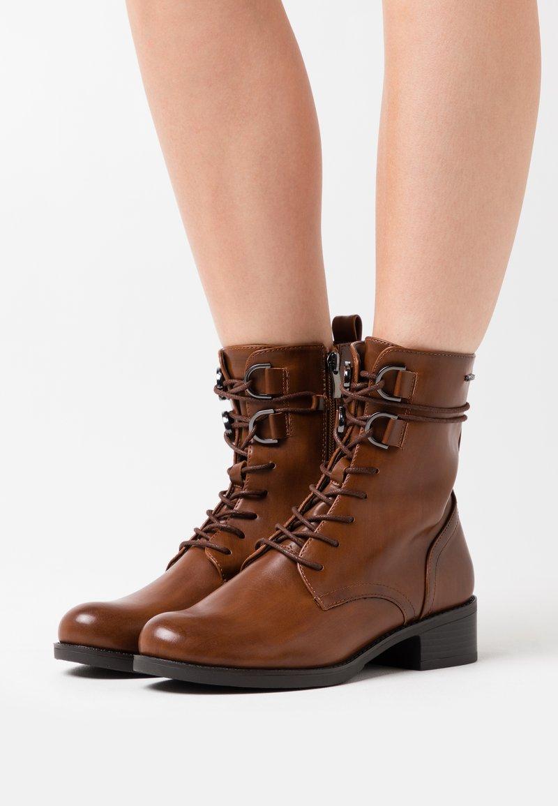 TOM TAILOR DENIM - Lace-up ankle boots - cognac