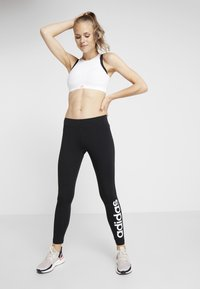 adidas Performance - LIN - Leggings - black/white - 1