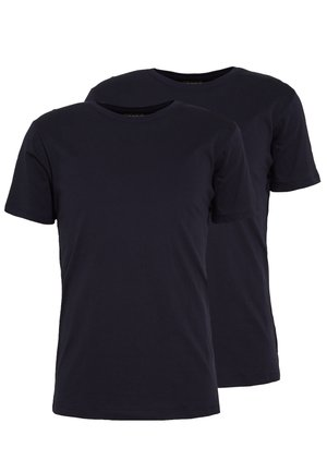 2 PACK - T-shirt - bas - navy