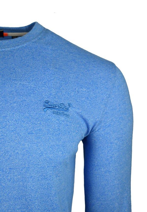 Superdry Bluzka z długim rękawem - bright blue grit/niebieski Odzież Męska TPKC