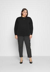 Calvin Klein Jeans Plus - MICRO BRANDING - Mikina - black - 1
