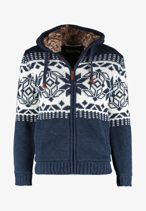 Strickjacke - blue melange