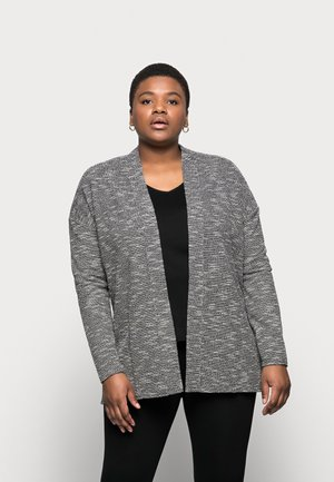 TEXTURED SOFT JACKET - Summer jacket - black/ivory