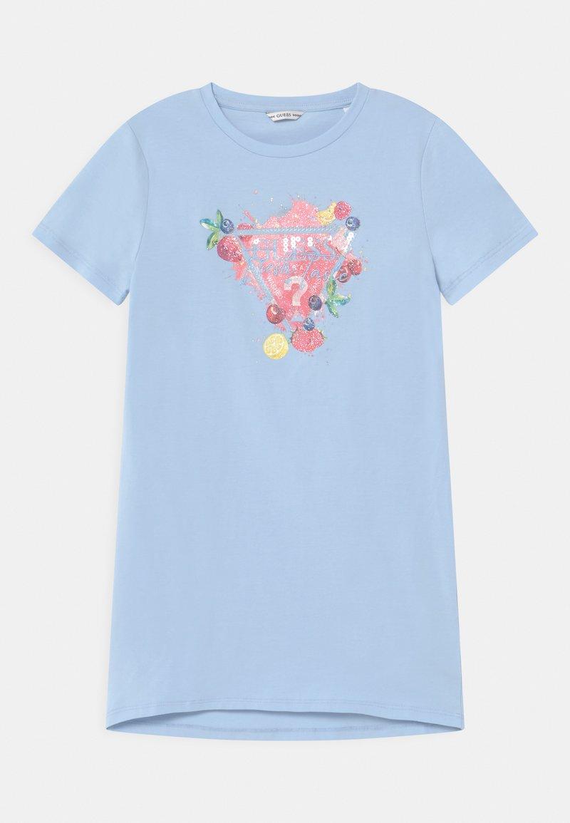 Guess - JUNIOR  - Print T-shirt - starlight blue