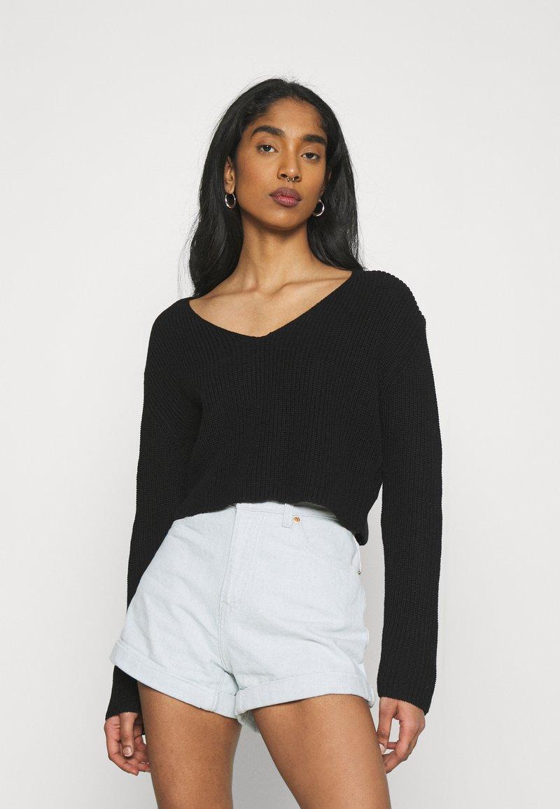 Even&Odd - Jersey de punto - black