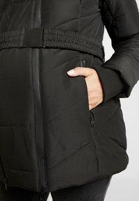 LOVE2WAIT - COAT DOUBLE ZIPPER PADDED - Winter jacket - black - 4