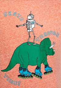 J.CREW - DINO ROBOT TEE ABBOTT - Camiseta estampada - coral - 2